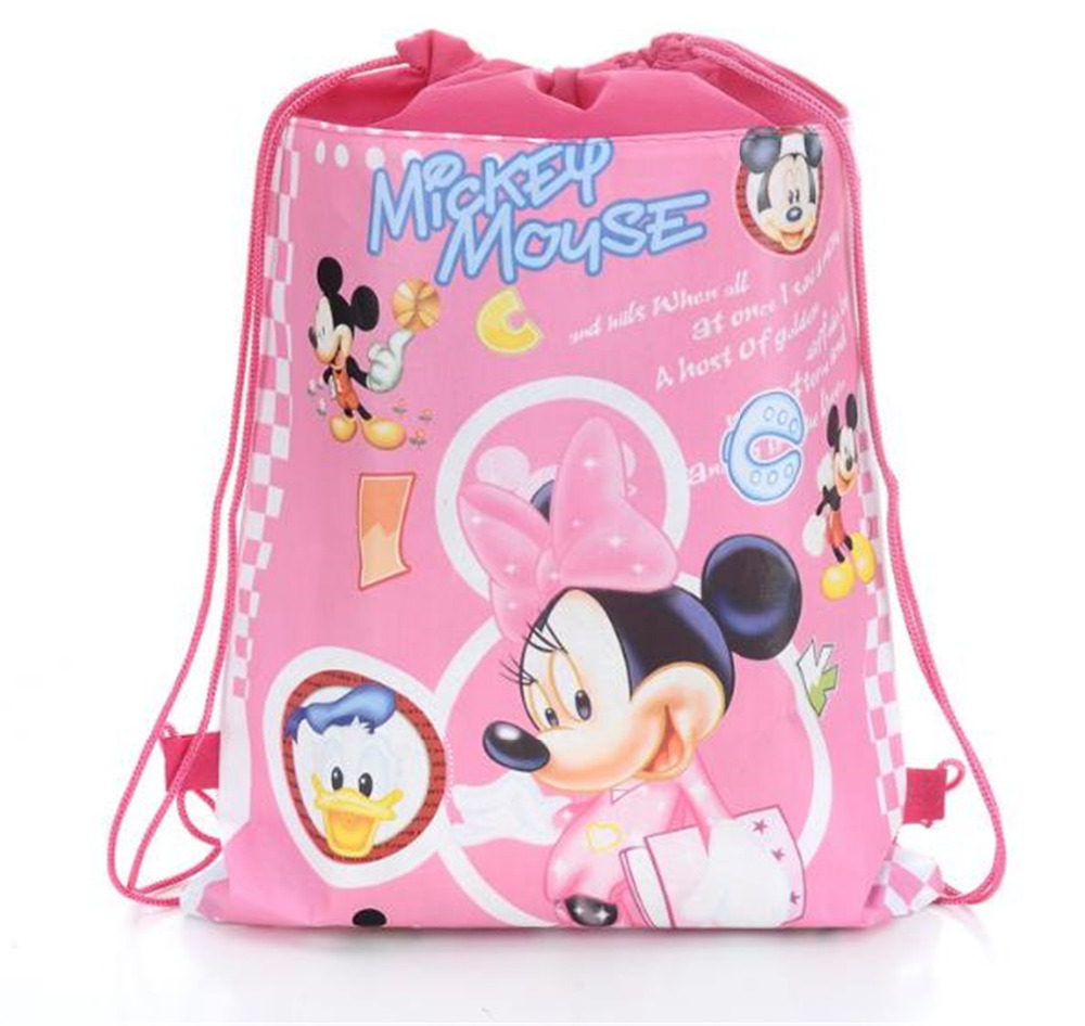 korean kids school backpack for girls and boys cartoon Mickey/ Minnie popular unisex printing backpack canvas bags new year gift