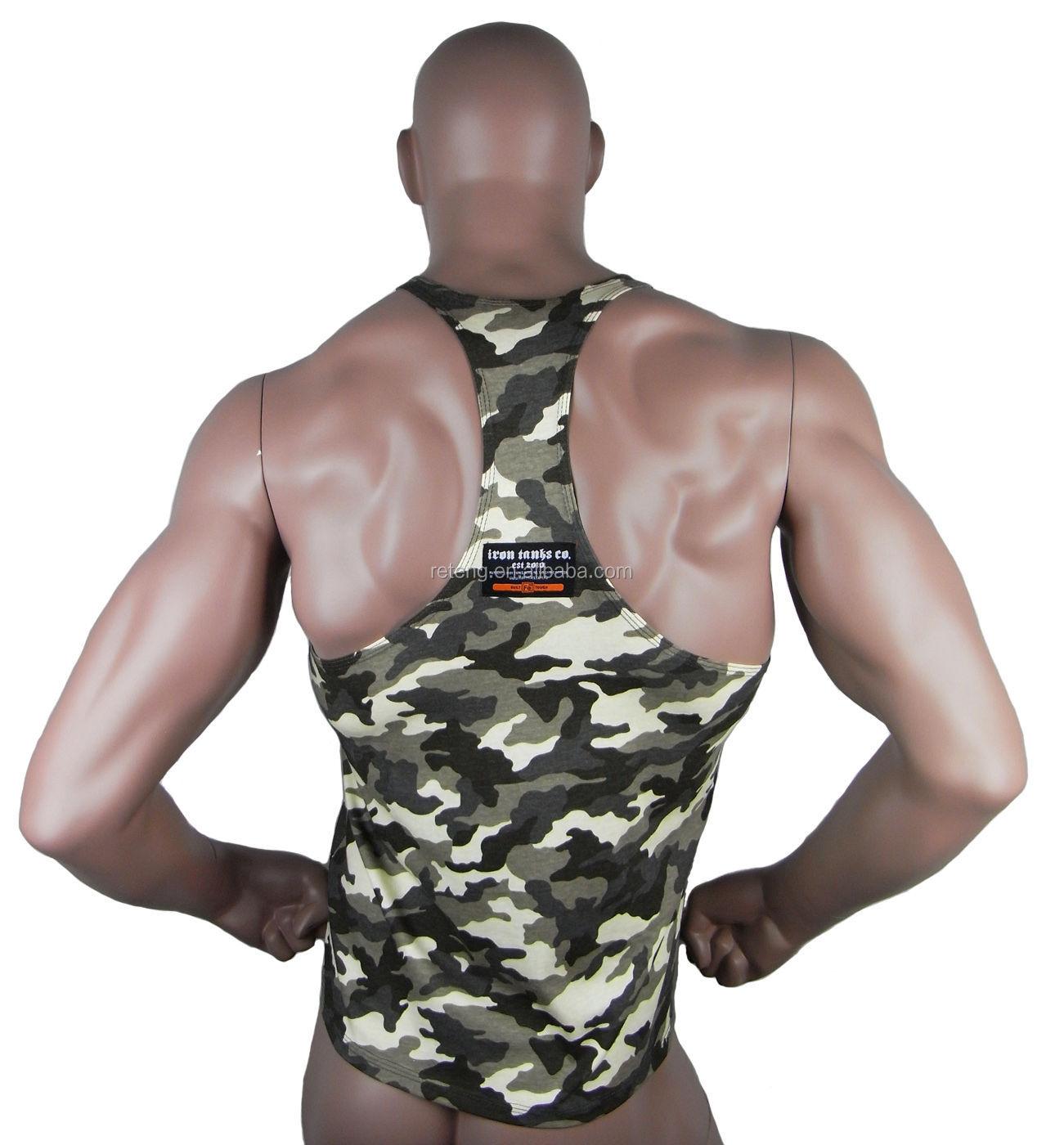 29eab1d279460 Wholesale 100% Cotton Muscle Camo Men Tank Top Mens Bodybuilding Singlet