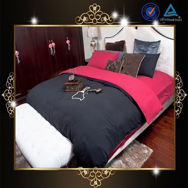 manufacter bright color comfort 100% cotton bedding set