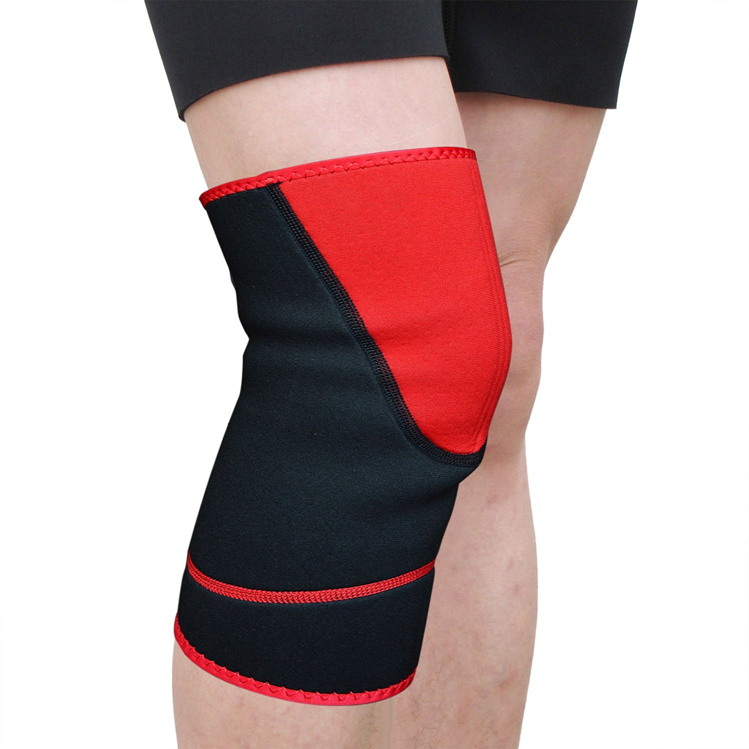 Beyoung(TM) Compression Heavy Duty Unisex Knee Sleeve Brace Support Knee Wrap for Weightlifting Volleyball Basketball CrossFit Running Squats Yoga Dancing - One Size Fits Most (1)