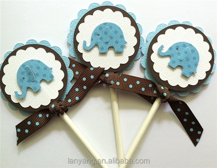 Baby Shower Cupcake Picks Decoration : Manufacturer: Elephant Baby Shower Decorations, Elephant ...