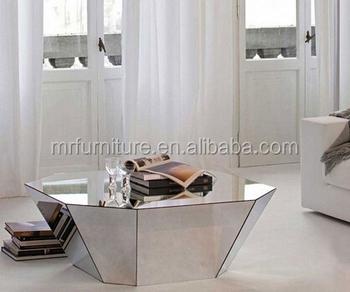 Modern Diamond Coffee Table Living Room Mirrored Furniture Buy