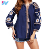 Yihao wholesale woman blouse ladies fashion embroidery loose casual long sleeve blouse