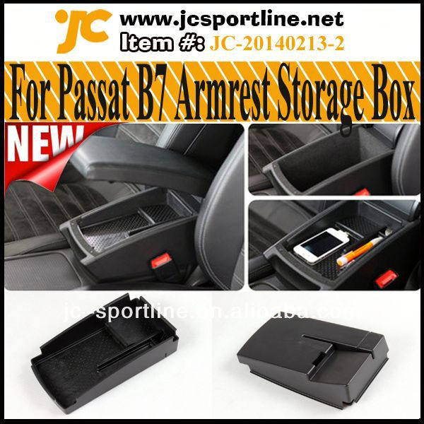 Storage Armrests Boxes For Volkswagen VW Passat B7 B6 Passat CC Mobile Phone Wallet Card Coin Storage Patent