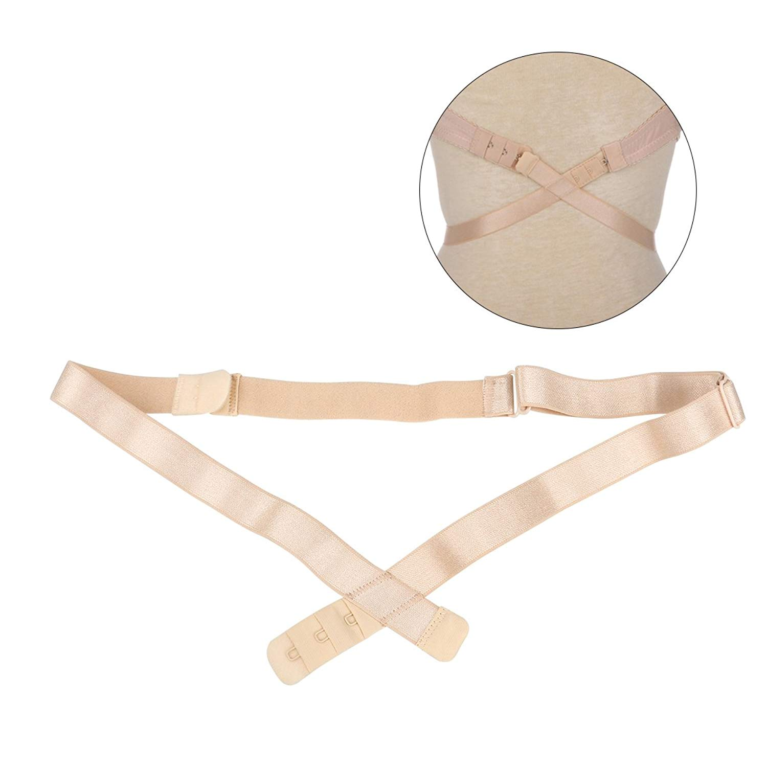 8a040a76bf35c Tinksky Low Back Bra Strap Converters Extender with 3 Hooks For V-Neck  Backless Dress