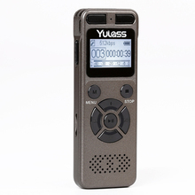 Yulass 8GB USB audio recorder professional big grey business portable digital voice recorder pen support tf card to 64GB