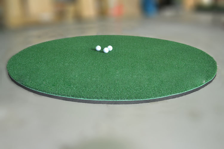 360 degrees play round shape golf hitting mat
