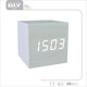 Digital Cube Wooden Desk LED Alarm Clock for Kid, Home, Office, Daily Life