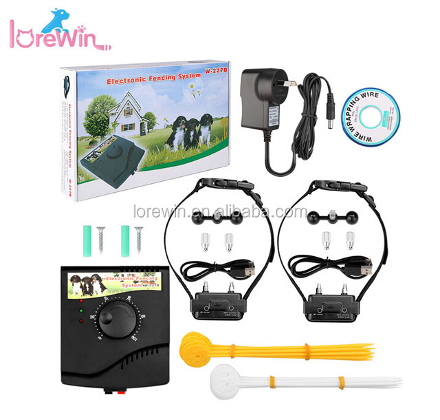 New Arrival Top Sale W-227B Adjustable Waterproof Dog Training Collars Underground Electronic Pet Fencing System