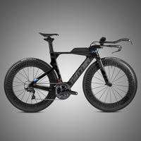 Top level Light weight Carbon Aero Complete Time Trial Bike with R8000-22S