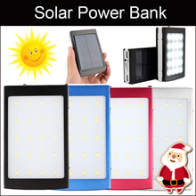 New Arrival 20Led Solar Power Bank +High Bright LED Camping Light Universal Portable Solar Panel Charger Phone Backup Powers