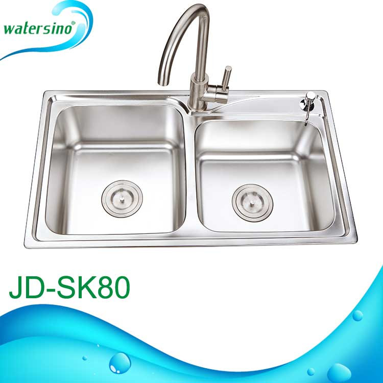 JD-SK80 Guangzhou Manufacture Stainless Steel 304 Kitchen sink with drian board