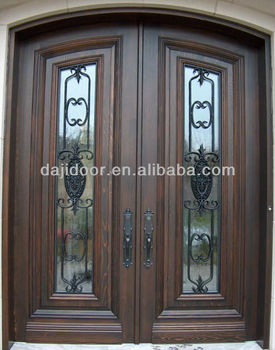 Wrought Iron Arched Exterior Doors With Glass Dj S9990mwa