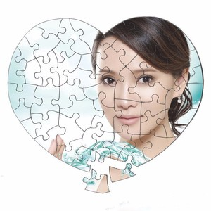 Sublimation Blank Heart Shape Jigsaw Puzzle