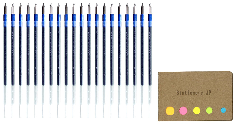 Uni-ball SXR-80-05 Jetstream Ballpoint Multi Pen Refill, 0.5 mm, Blue Ink, 20-pack, Sticky Notes Value Set