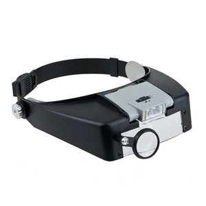Jaxy 1.5X 3X 6.5X and 8X adjustable headset helmet dental medical magnifying glass, loupe magnifier with LED light