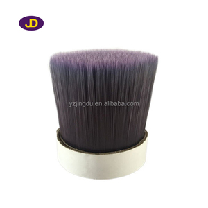 PET hollow tapered filaments for broom and brush