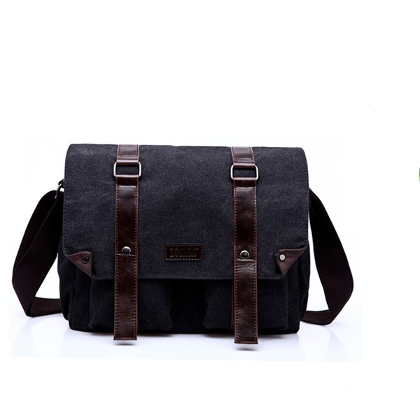 Wholesale eco-friendly canvas custom bagpack fashion trend camera backpack school back bag black
