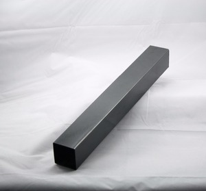 powder coated hollow steel profile square steel pipe/tube.
