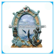 Boated shaped photo picture frame for souvenirs