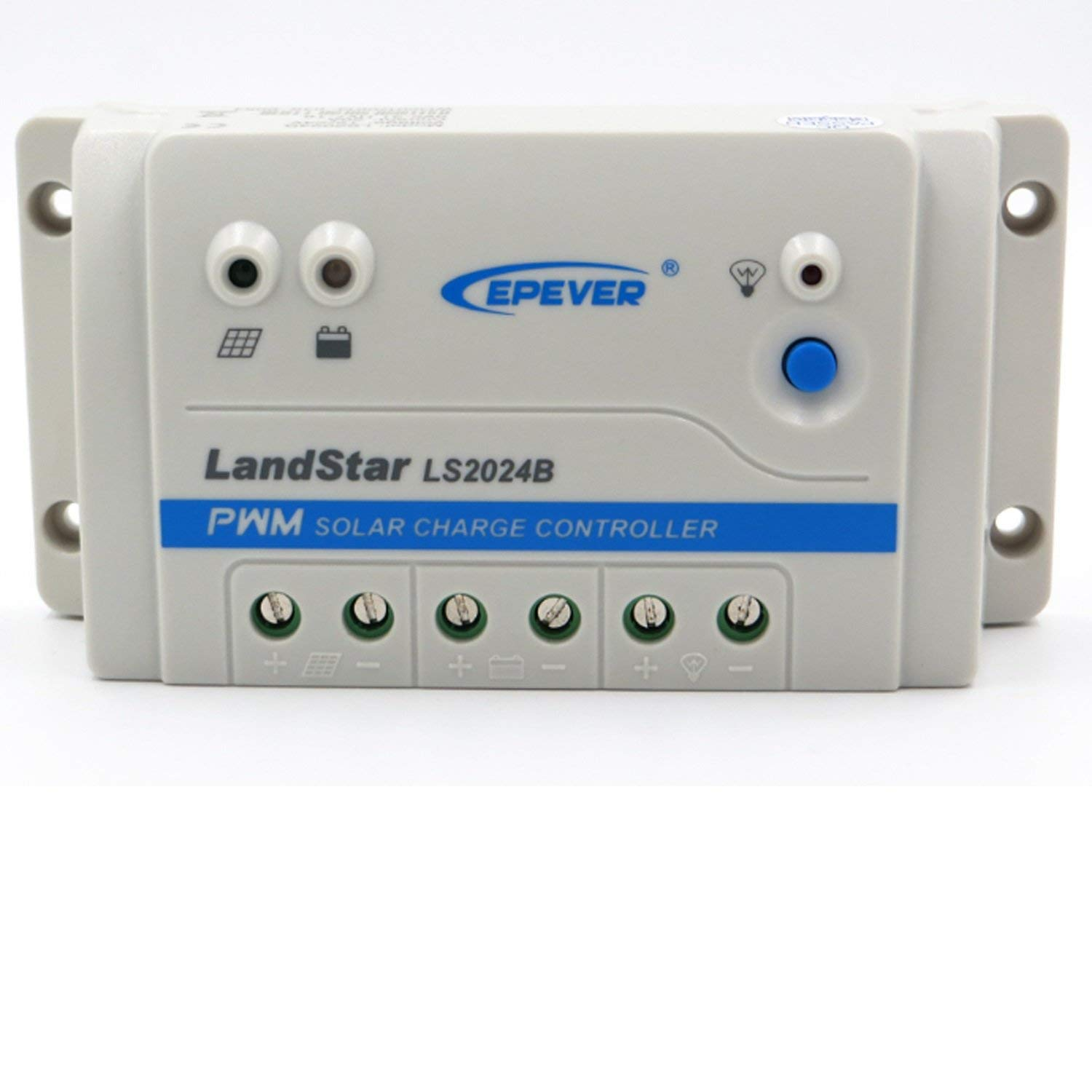 Solar Charge Controller PWM LS1024B LS2024B LS3024B 12V/24V Auto Work for Solar Lighting System Multiple Load Working Modes Manual Control, Light ON/Off, Timer (Style : 20A LS2024B)