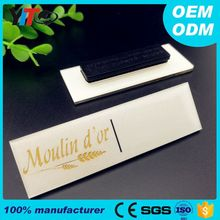 Custom rectangular blank acrylic tags plastic printed name badges strong magnet security cheap