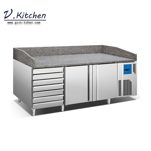 commercial fridge refrigerator baking tray series 2-door & 7-drawers counter chiller with marble top