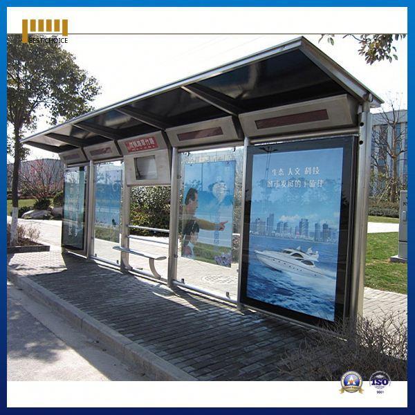 Prefabricated Bus Shelter : Parada de autobús prefabricada moderna vidrio templado