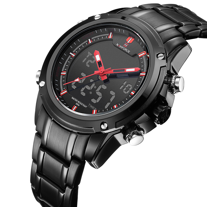 2017 Naviforce Men 9050 Watches with Stainless Steel Band for Gift