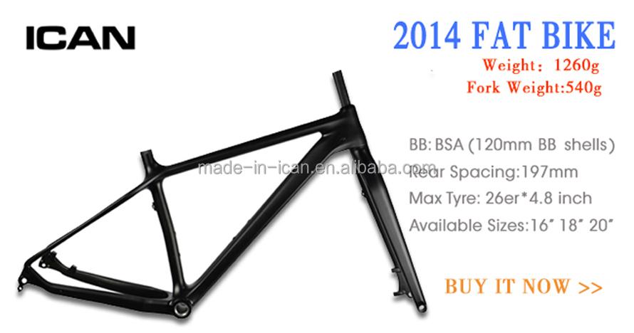 Carbon Bike Parts Ican Frameset Sn01 Fatbike Frame Carbon Bike Frame ...