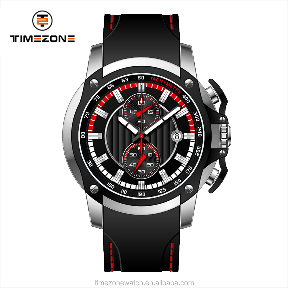 2017 Timezone new best-selling quality flip baffle crown chronograph man luxury wrist watch
