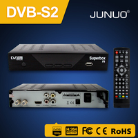 2017 Junuo hd mpeg 4 dvb s2 digital satellite tv receiver no dish for pakistan