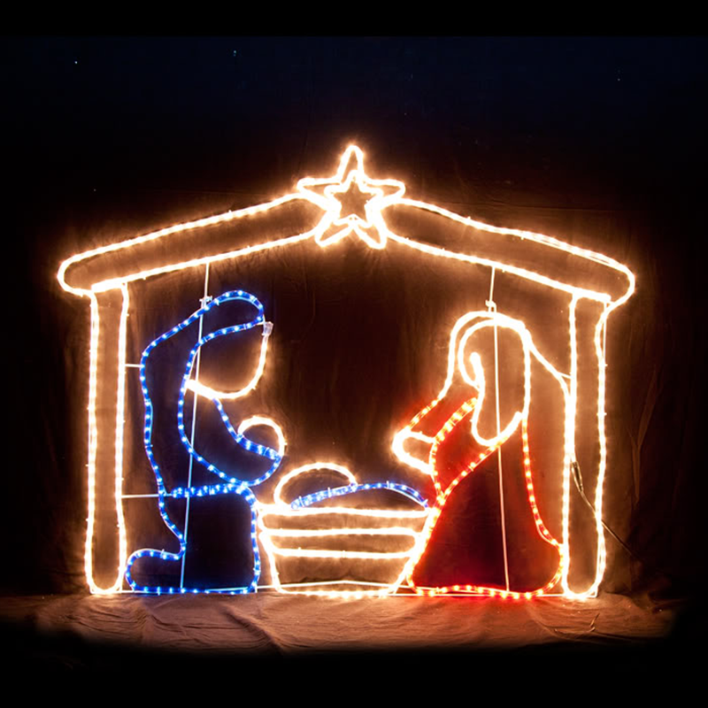 Outdoor Large Jesus Christmas Lights Nativity Sets Silhouettes - Buy ...