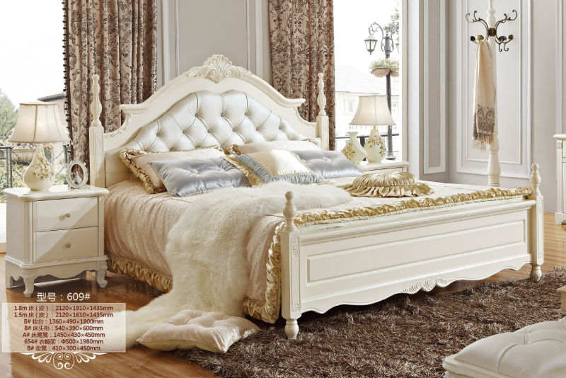 5 luxury french neo classic white bedroom furniture royal for Chambre a coucher high gloss
