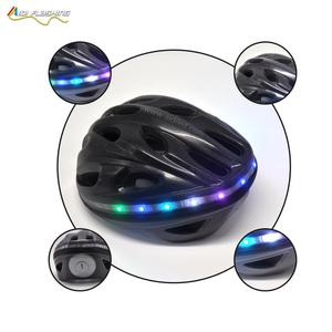 Bike Helmet with Colorful steering light Weight Mountain LED warning Helmet Especially fo Night Safety helmet