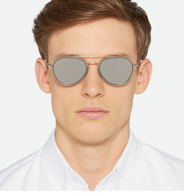 78a0c9e06 Get Quotations · 2015 New Thom Browne Sunglasses Men Brand Design Retro  Aviator Sun Glasses For Men Thom Browne