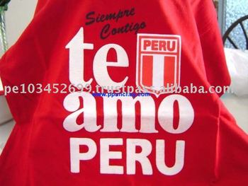 Crewneck Cotton T Shirt for Unisex Peru