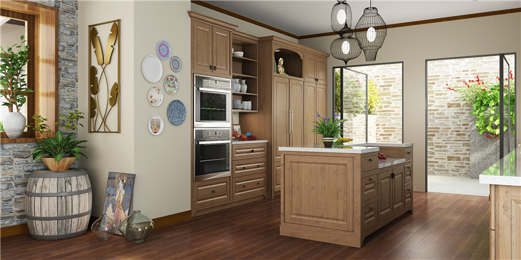 OPPEIN home design PP thermofoil kitchen cabinet furniture