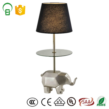 Elephant Base With Mini Glass Table Polyresin Animal Table Lamp ...