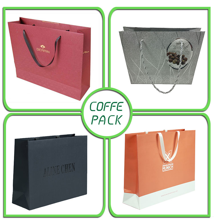 CMYK offset printing paper bags for clothing
