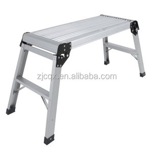 Folding Bench Stool Ladder Drywall Step Up Platform Aluminum Height off Ground