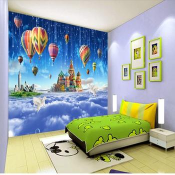 Beautiful Scenery Wall Murals Wallpaper Hd Photo Customized Fire Balloon Mural S