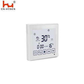 White Color 4 Pipe EU Central Air Conditioner WiFi Thermostat For Room FCU System