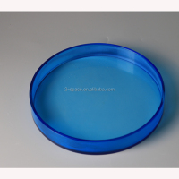 gem blue tray round tray acrylic circle little cocktail holder tray