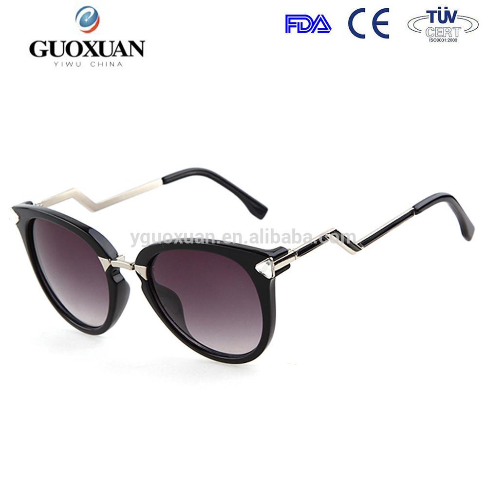 04b6f1f504 5 colores nuevo 2015 moda vintage grande lentes de diseño de Metal gafas de  sol de
