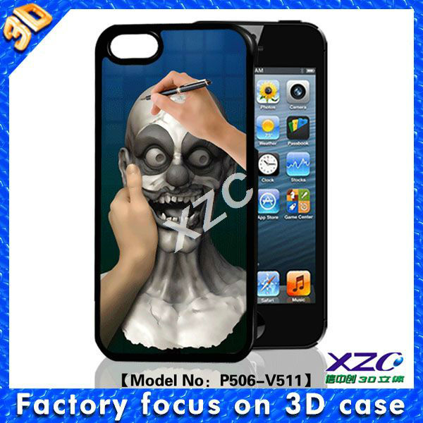 2013 newest 3D mobile case for iphone 5,draw on skull animated