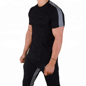 Wholesale custom print blank gym fitness workout men dry fit t shirts