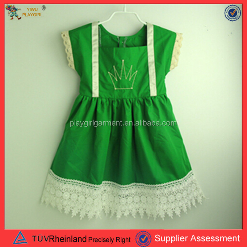 PGCC-2204 2016 Child green and white angel dress ceremony child dress national costumes for kids