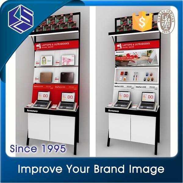Free Design Computer Shop Interior Design Laptop Display Cabinet ...