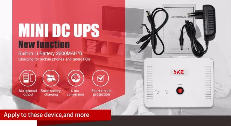 New mode Smallest UPS Battery Backup Mini DC UPS SK616